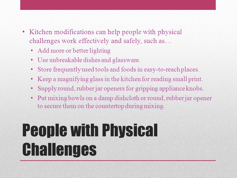 People with Physical Challenges