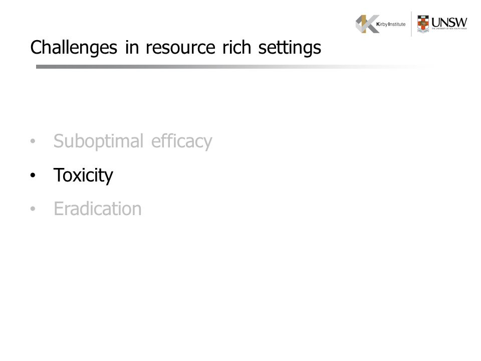Challenges in resource rich settings