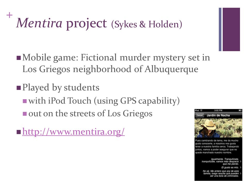 Mentira project (Sykes & Holden)