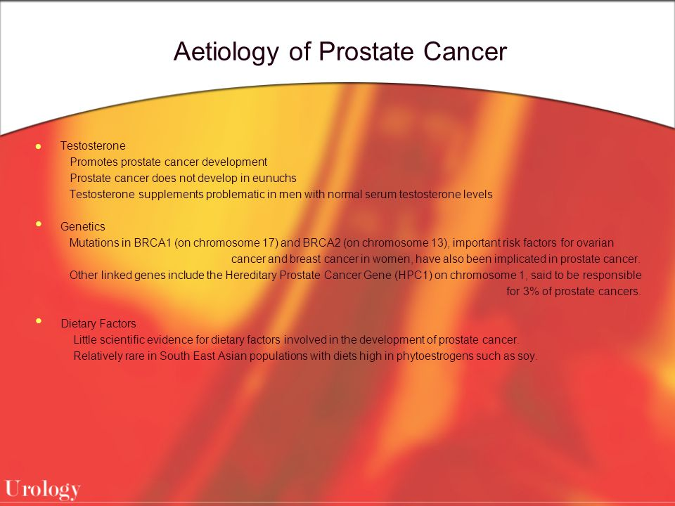 Aetiology of Prostate Cancer