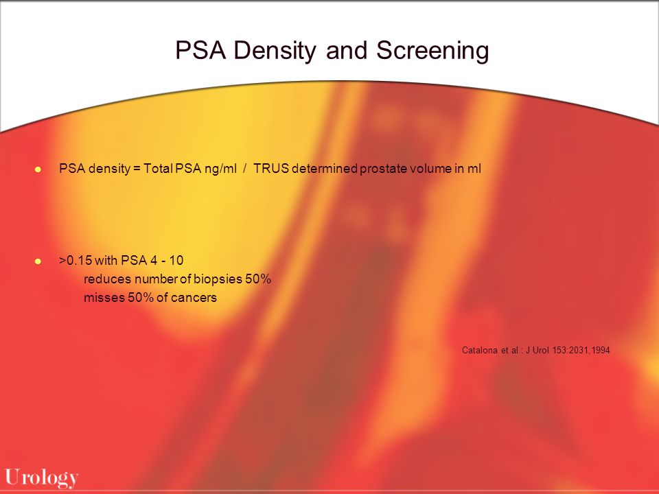 PSA Density and Screening