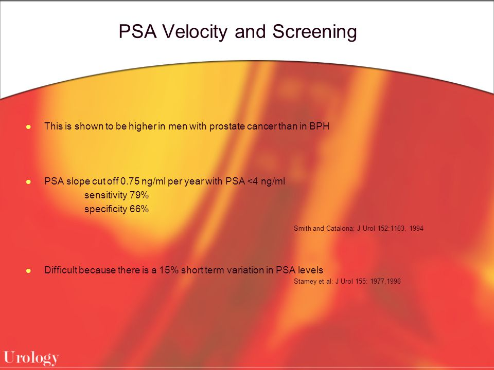 PSA Velocity and Screening