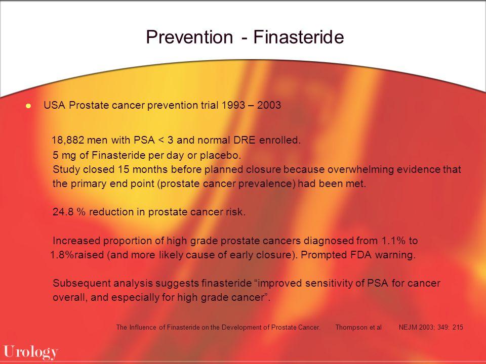 Prevention - Finasteride