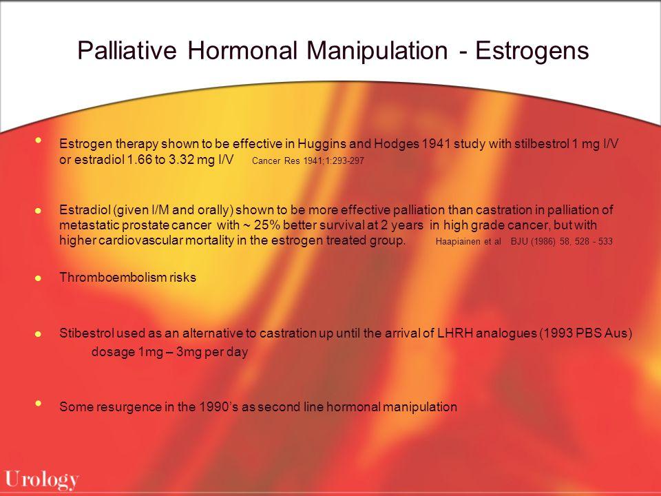Palliative Hormonal Manipulation - Estrogens