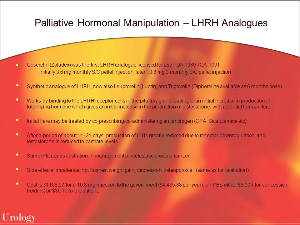 Palliative Hormonal Manipulation – LHRH Analogues