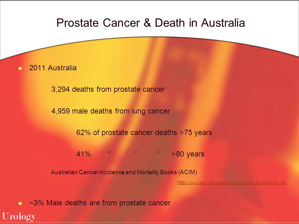 Prostate Cancer & Death in Australia