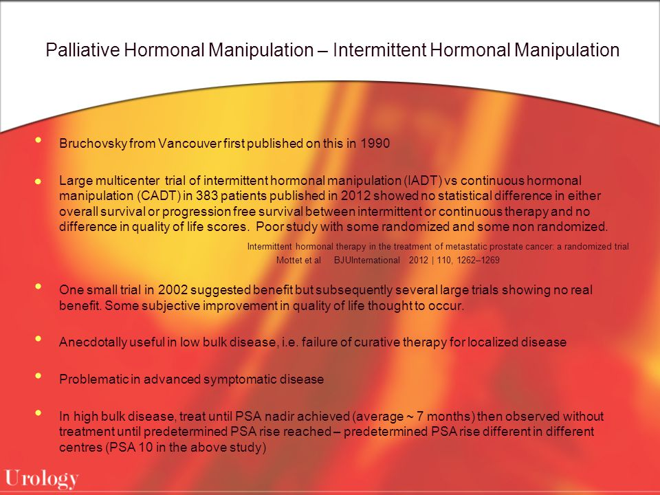 Palliative Hormonal Manipulation – Intermittent Hormonal Manipulation