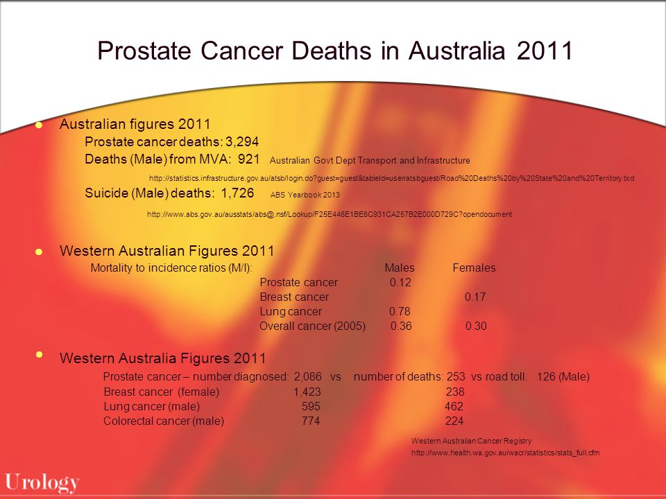 Prostate Cancer Deaths in Australia 2011