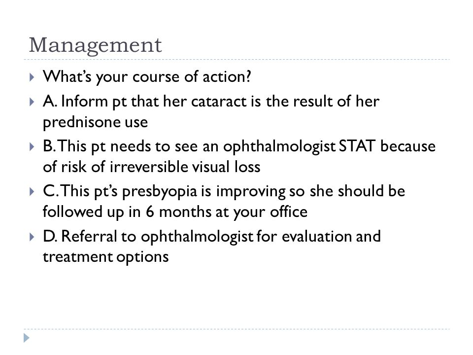 Management What's your course of action