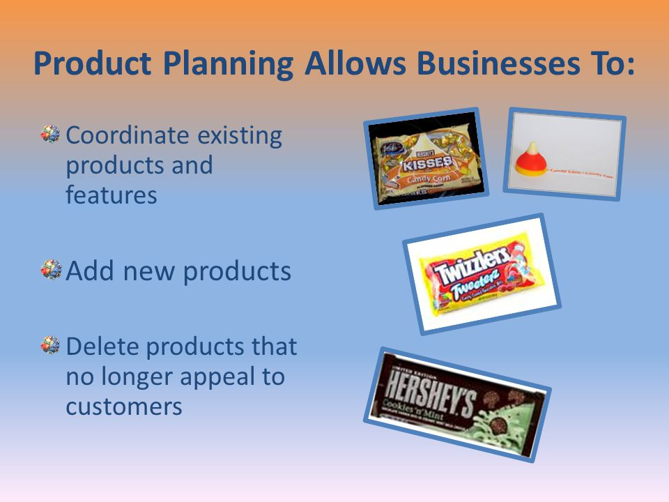 Product Planning Allows Businesses To: