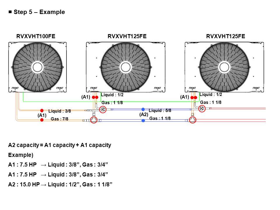 ■ Step 5 – Example RVXVHT100FE RVXVHT125FE RVXVHT125FE