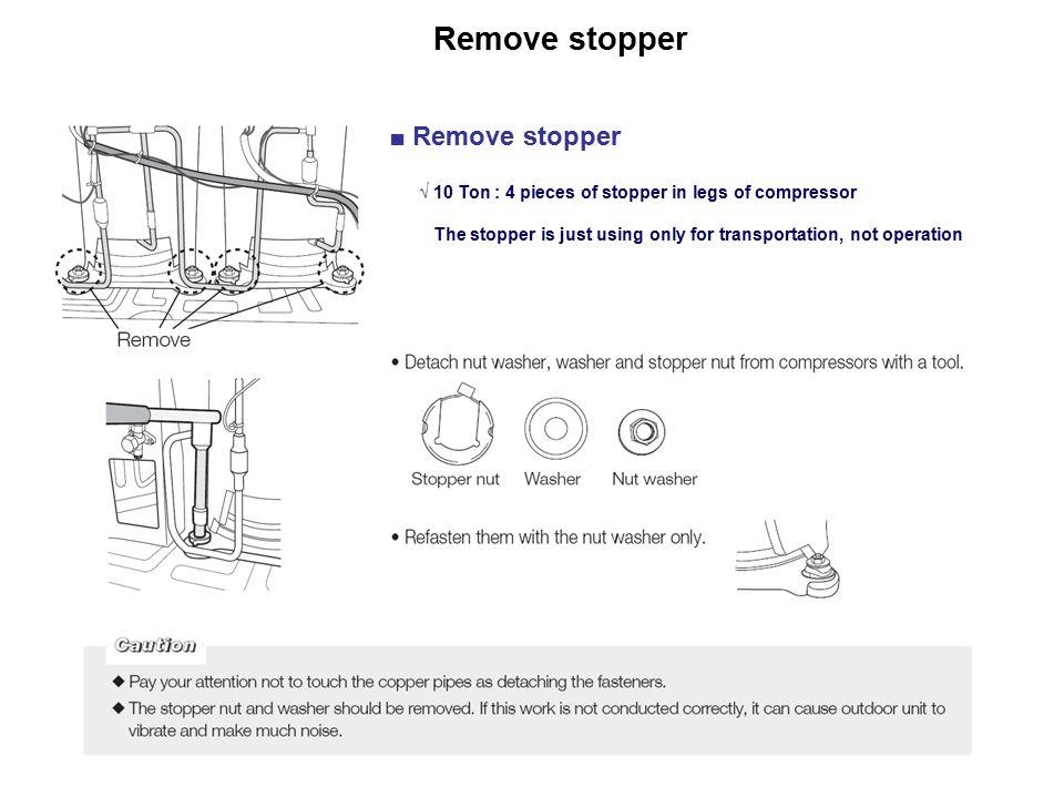 Remove stopper ■ Remove stopper