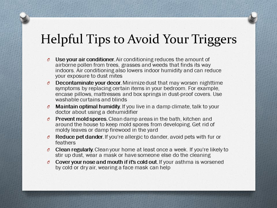 Helpful Tips to Avoid Your Triggers