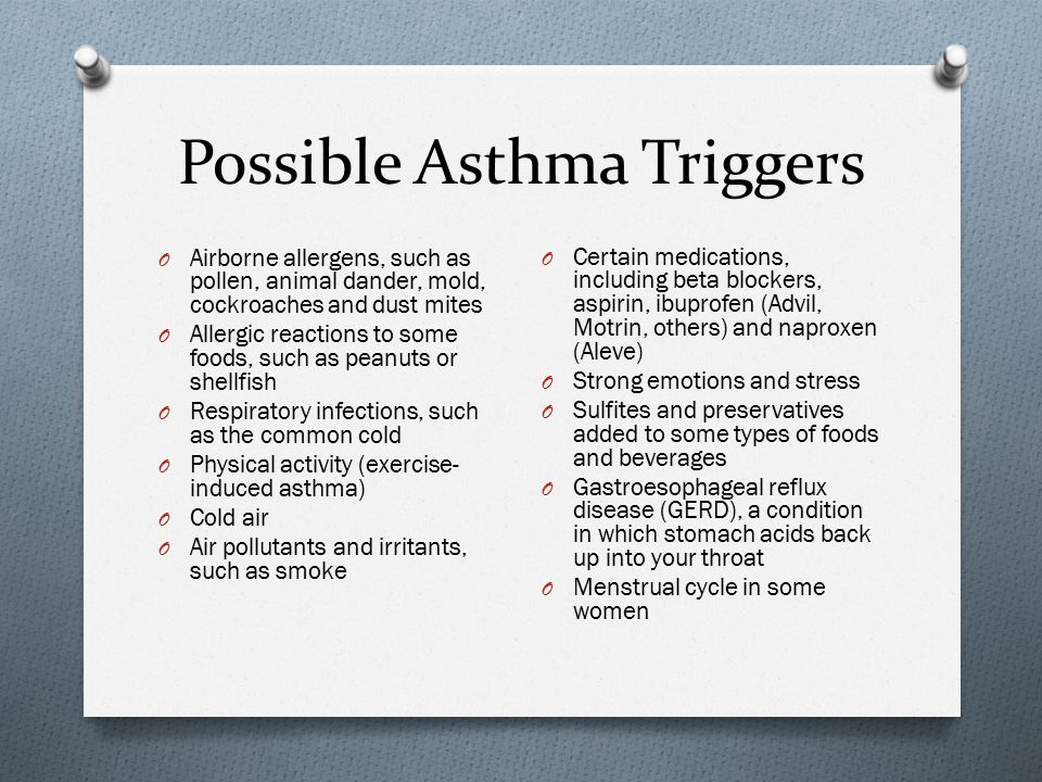 Possible Asthma Triggers
