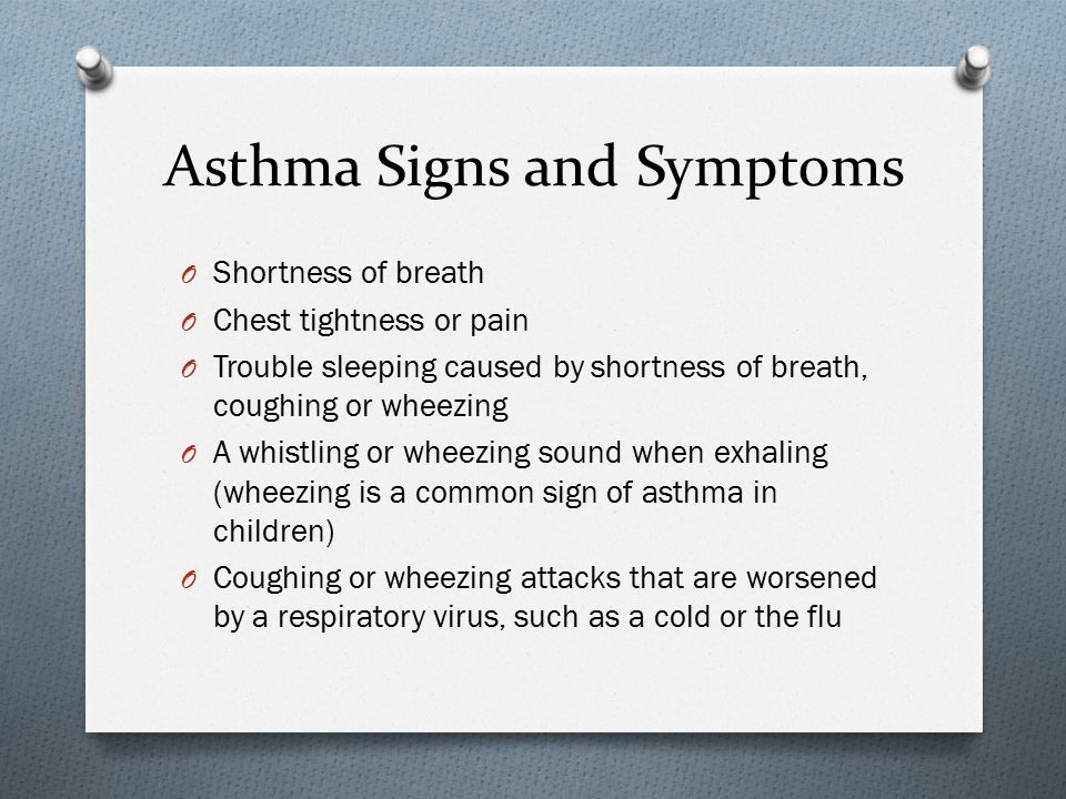 Asthma Signs and Symptoms