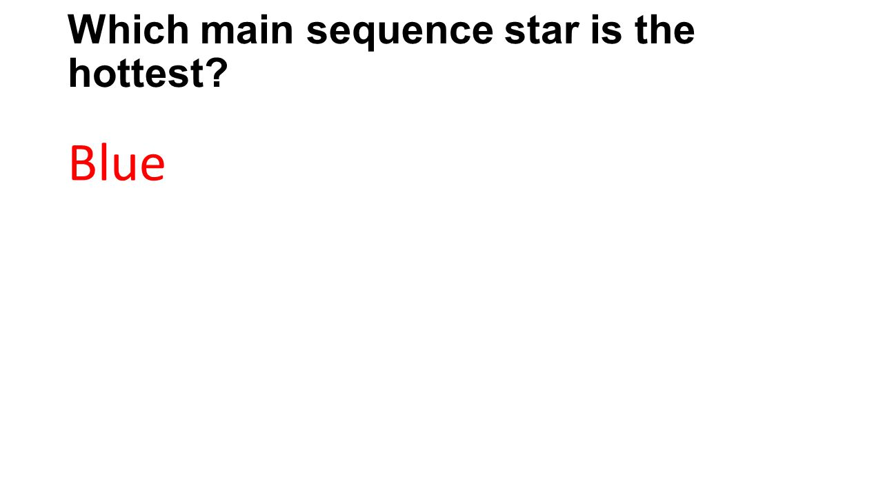 Which main sequence star is the hottest