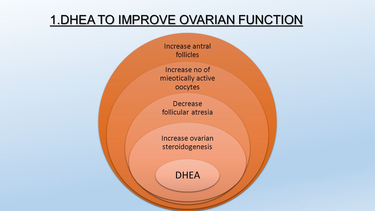 1.DHEA TO IMPROVE OVARIAN FUNCTION