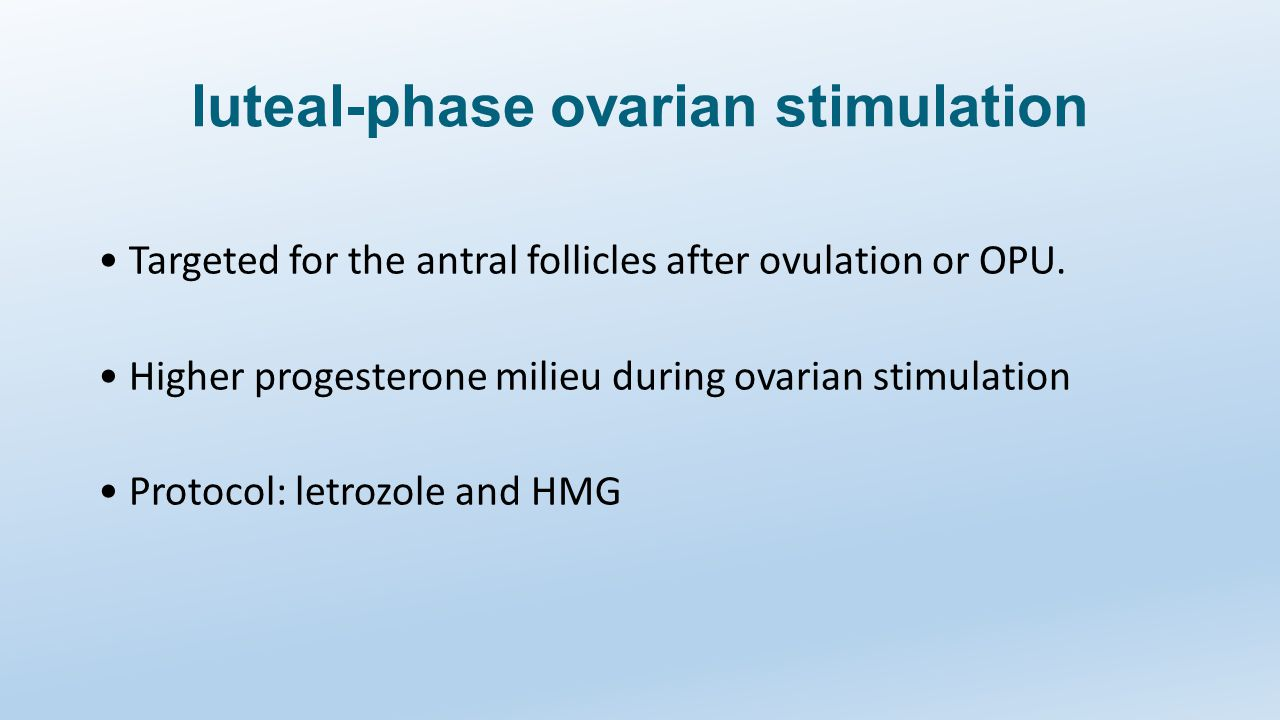 luteal-phase ovarian stimulation