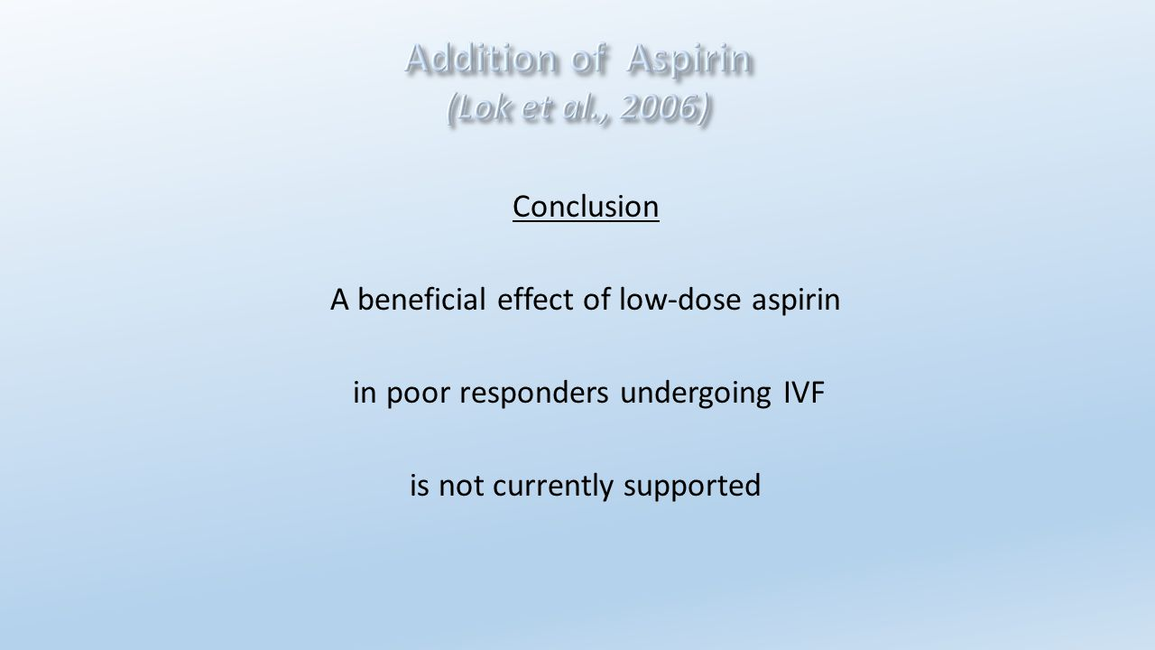 A beneficial effect of low-dose aspirin
