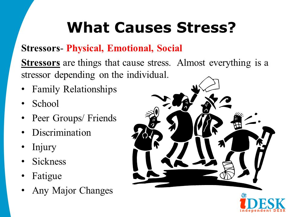 What Causes Stress Stressors- Physical, Emotional, Social