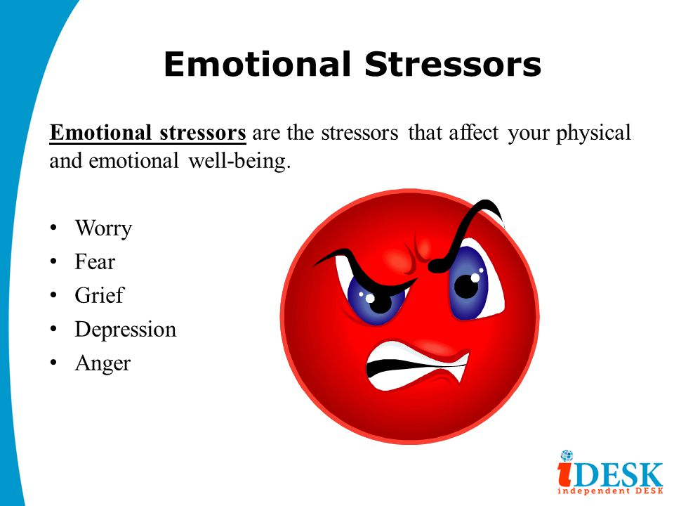 Emotional Stressors Emotional stressors are the stressors that affect your physical and emotional well-being.