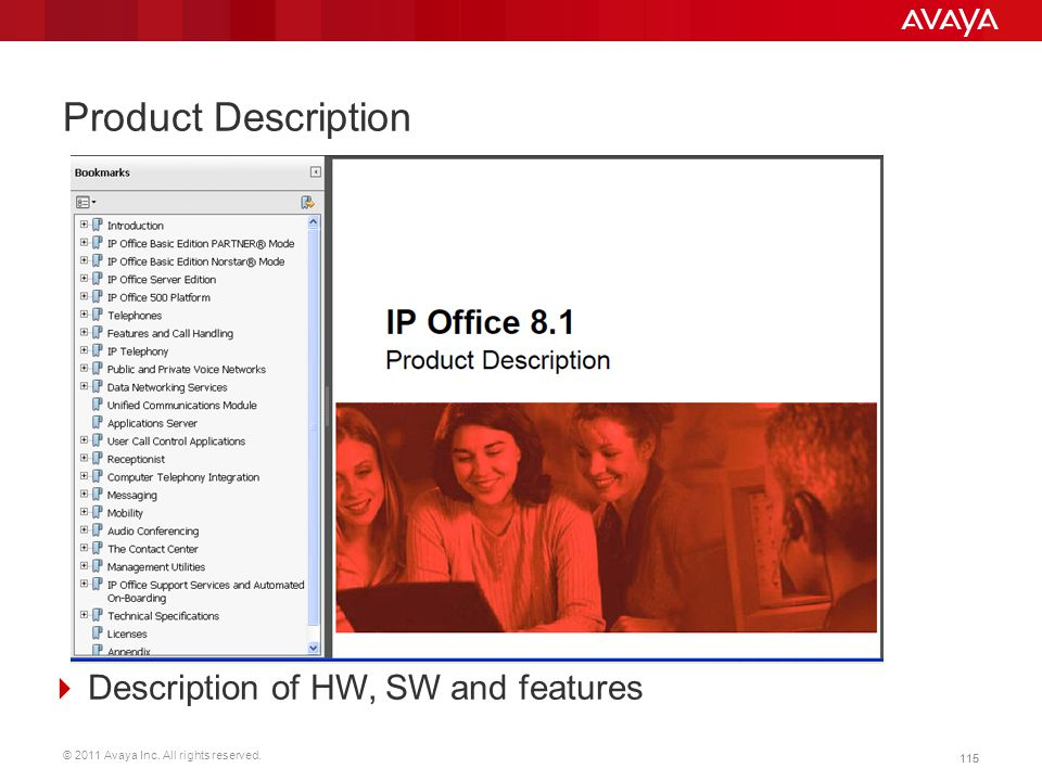 Product Description Description of HW, SW and features