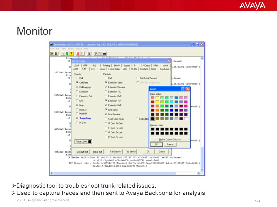 Monitor Diagnostic tool to troubleshoot trunk related issues.