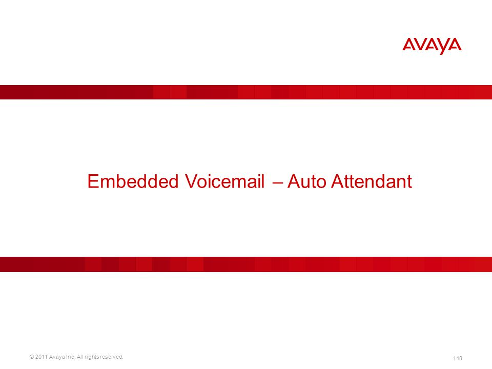 Embedded Voicemail – Auto Attendant