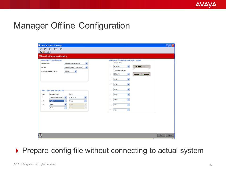 Manager Offline Configuration