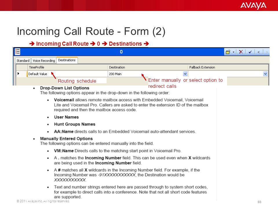 Incoming Call Route - Form (2)