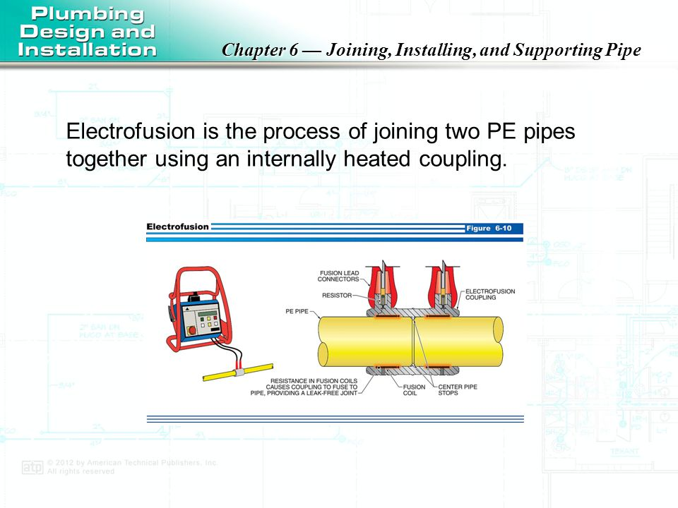 Electrofusion is the process of joining two PE pipes together using an internally heated coupling.