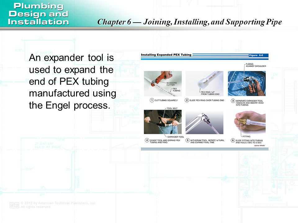 An expander tool is used to expand the end of PEX tubing manufactured using the Engel process.