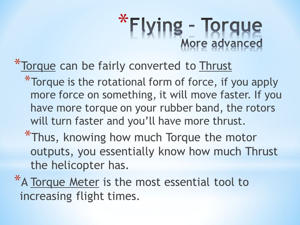 Flying – Torque More advanced