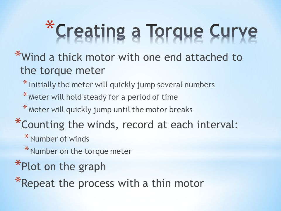 Creating a Torque Curve