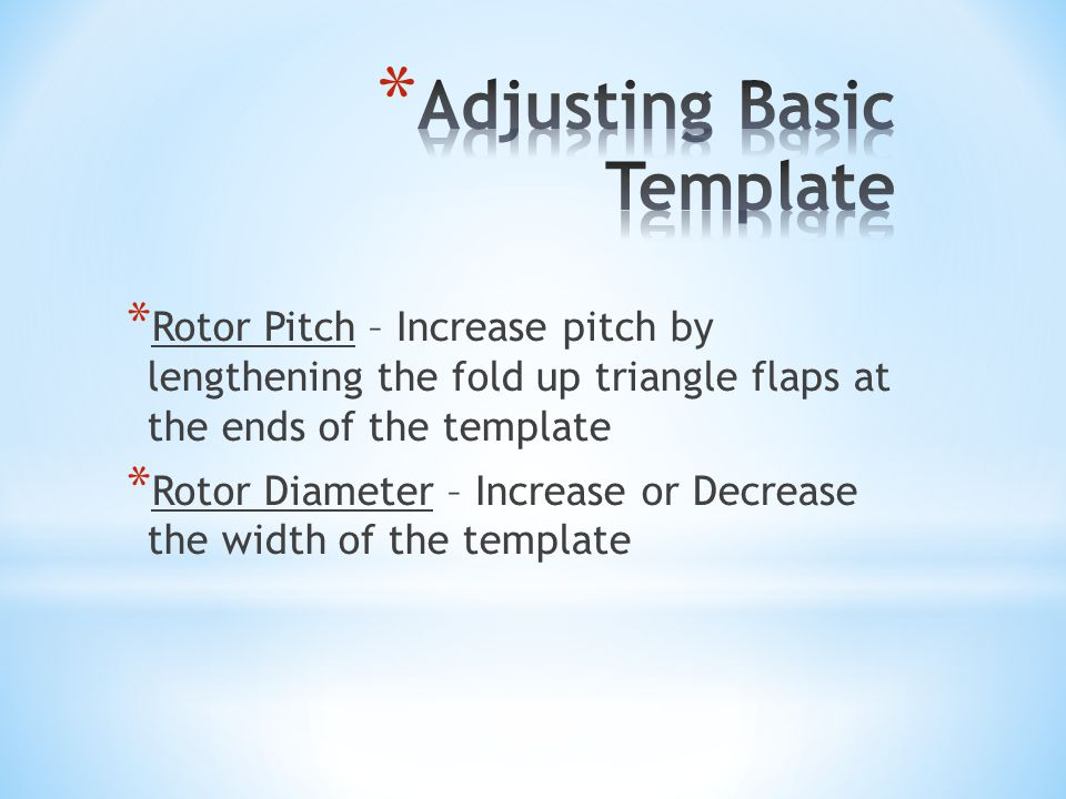 Adjusting Basic Template