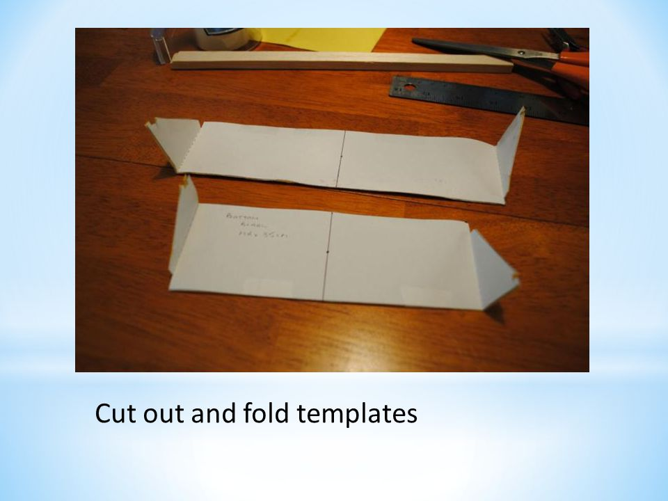 Cut out and fold templates