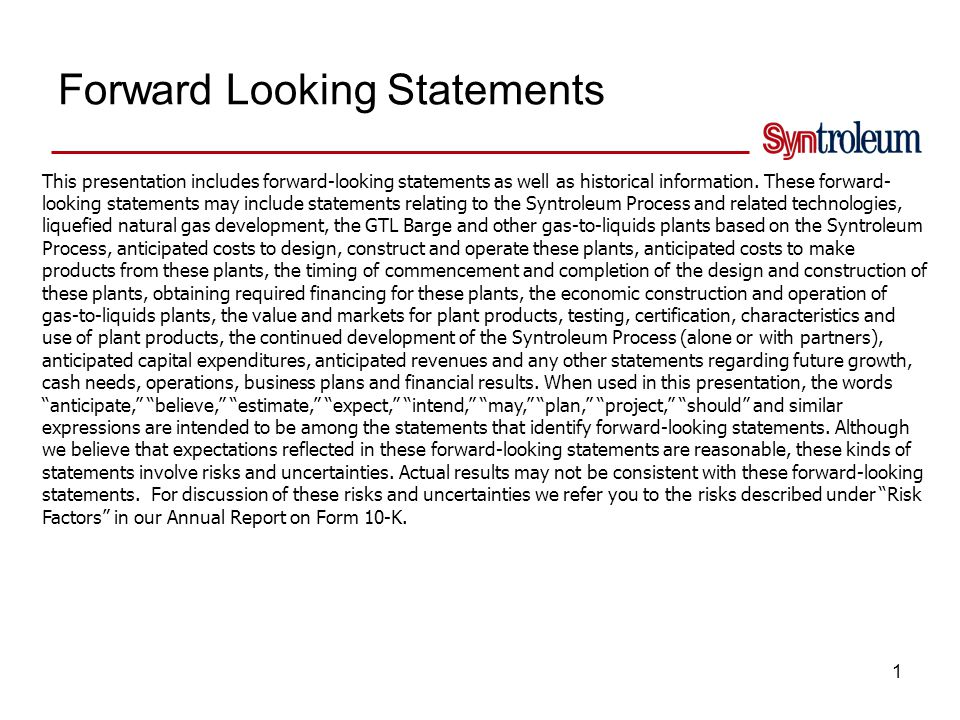 Syntroleum Investment Profile