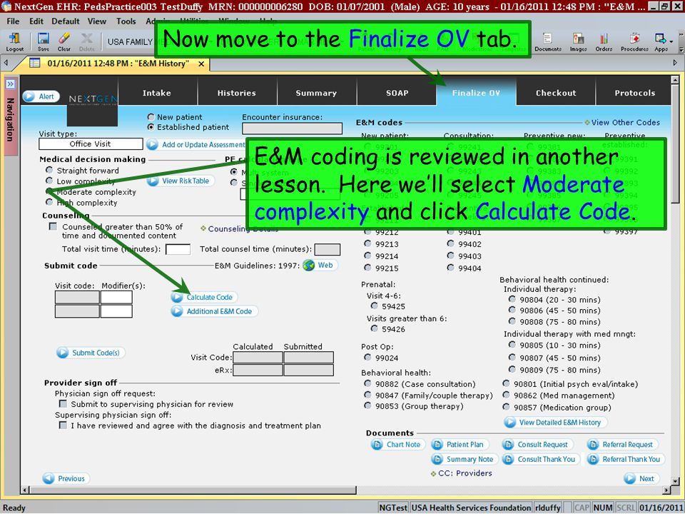 Now move to the Finalize OV tab.