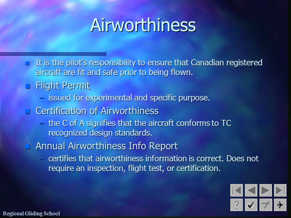 Airworthiness Flight Permit Certification of Airworthiness