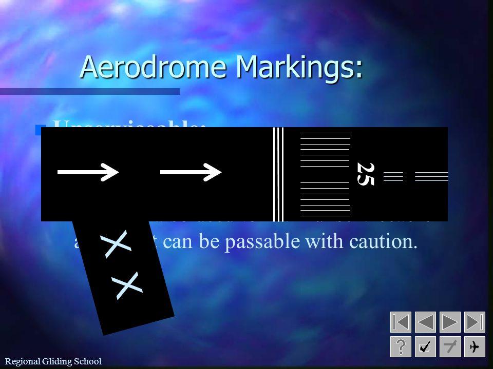 X X Aerodrome Markings: Unserviceable: 25