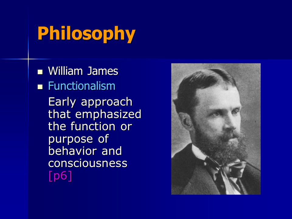 Philosophy William James. Functionalism.