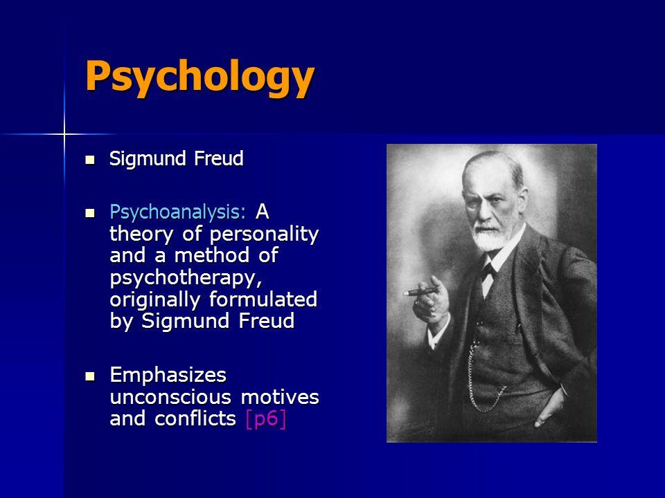 Psychology Sigmund Freud