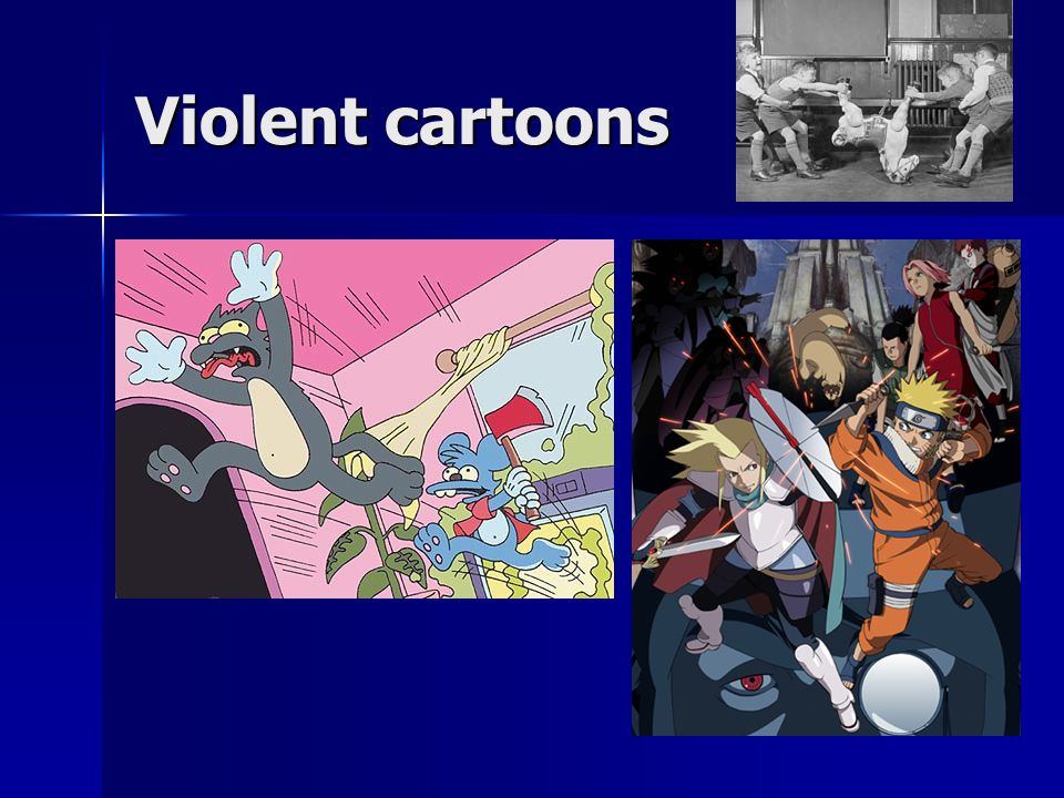 Violent cartoons