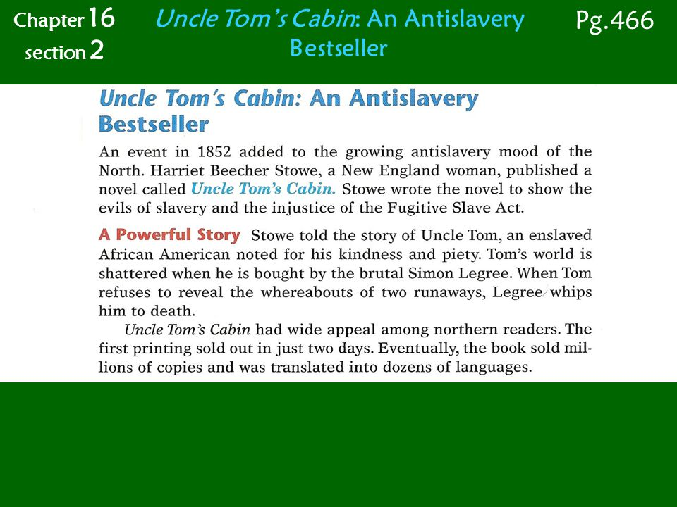 Uncle Tom's Cabin: An Antislavery