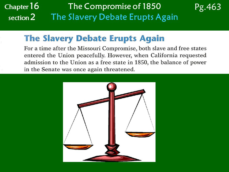 The Slavery Debate Erupts Again