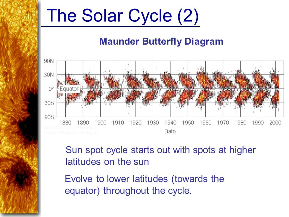 Maunder Butterfly Diagram
