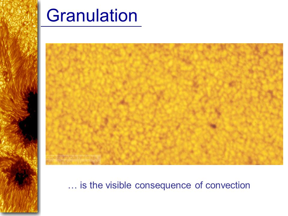 Granulation … is the visible consequence of convection