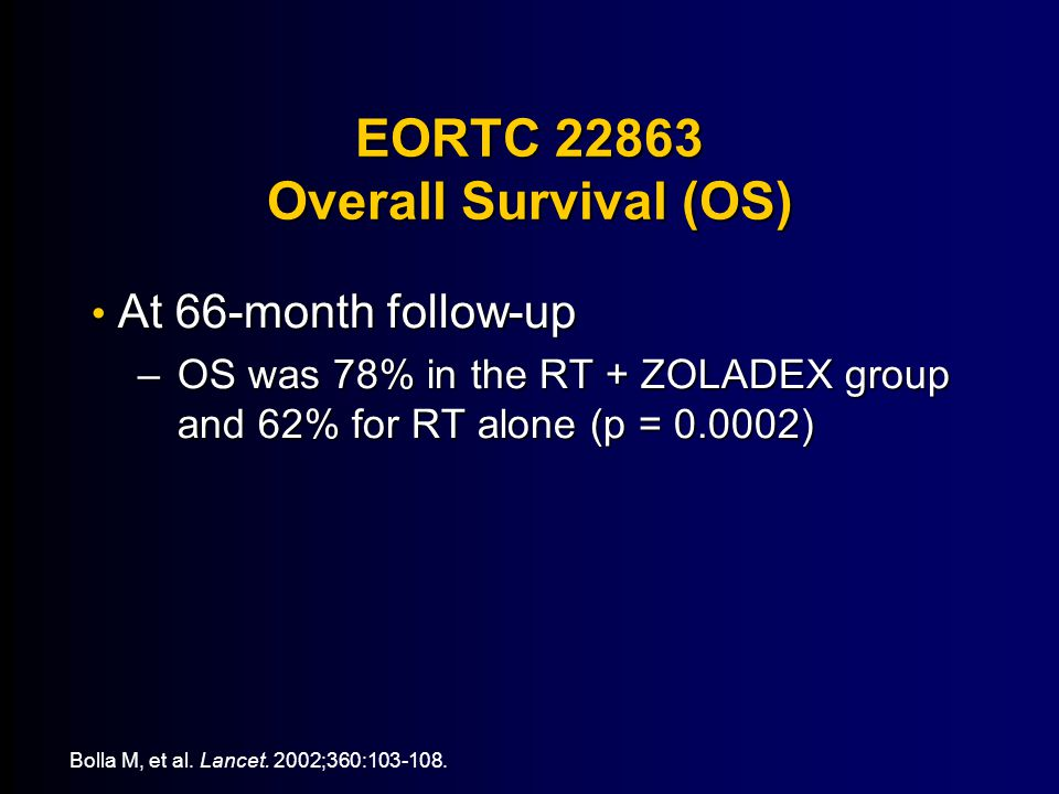 EORTC 22863 Overall Survival (OS)