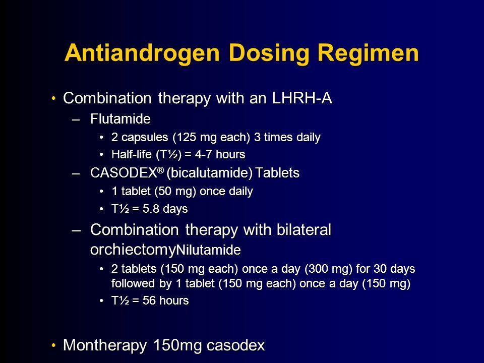 Antiandrogen Dosing Regimen