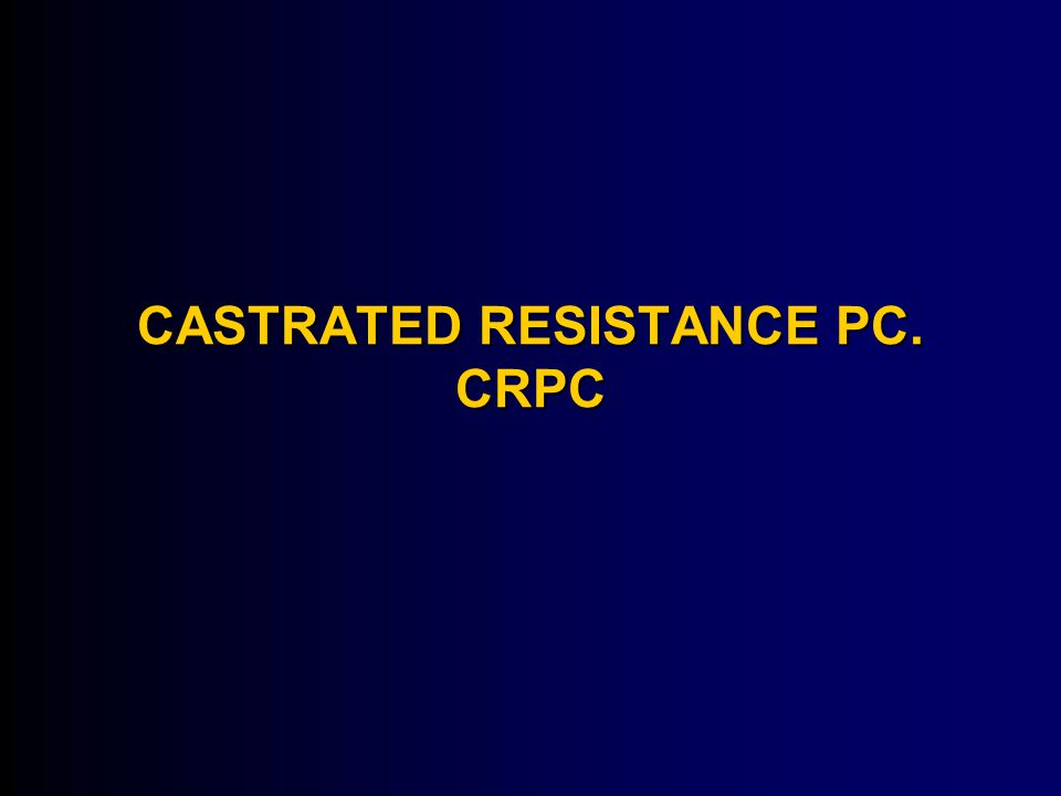 CASTRATED RESISTANCE PC. CRPC